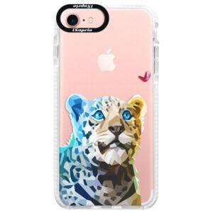 Silikónové púzdro Bumper iSaprio - Leopard With Butterfly - iPhone 7