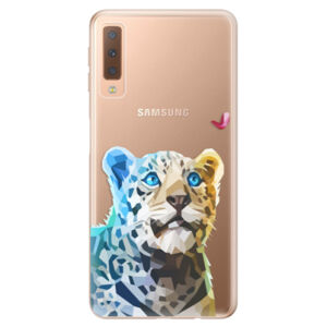 Odolné silikónové puzdro iSaprio - Leopard With Butterfly - Samsung Galaxy A7 (2018)