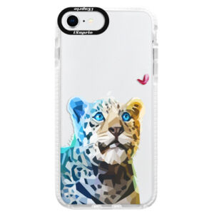 Silikónové puzdro Bumper iSaprio - Leopard With Butterfly - iPhone SE 2020