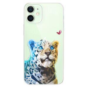 Odolné silikónové puzdro iSaprio - Leopard With Butterfly - iPhone 12