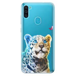 Odolné silikónové puzdro iSaprio - Leopard With Butterfly - Samsung Galaxy M11