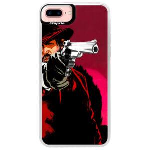 Neónové púzdro Pink iSaprio - Red Sheriff - iPhone 7 Plus