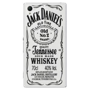 Plastové puzdro iSaprio - Transparent Black Jack - Sony Xperia Z1