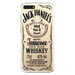 Plastové puzdro iSaprio - Transparent Black Jack - Huawei Honor 7A