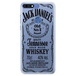 Silikónové puzdro iSaprio - Transparent Black Jack - Huawei Honor 7C