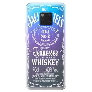Silikónové puzdro iSaprio - Transparent White Jack - Huawei Mate 20 Pro