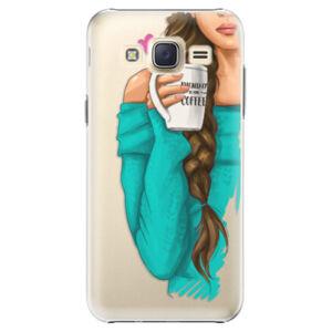 Plastové puzdro iSaprio - My Coffe and Brunette Girl - Samsung Galaxy Core Prime