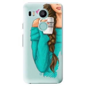 Plastové puzdro iSaprio - My Coffe and Brunette Girl - LG Nexus 5X