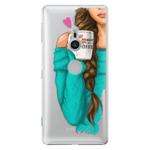 Plastové puzdro iSaprio - My Coffe and Brunette Girl - Sony Xperia XZ2
