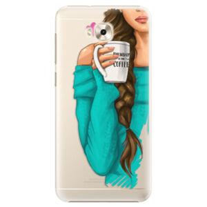 Plastové puzdro iSaprio - My Coffe and Brunette Girl - Asus ZenFone 4 Selfie ZD553KL