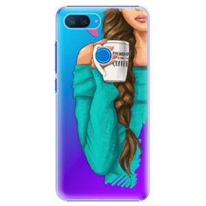 Plastové puzdro iSaprio - My Coffe and Brunette Girl - Xiaomi Mi 8 Lite
