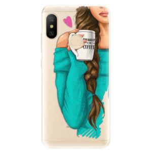 Odolné silikónové puzdro iSaprio - My Coffe and Brunette Girl - Xiaomi Mi A2 Lite