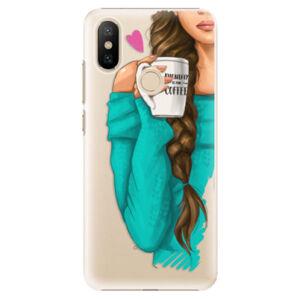 Plastové puzdro iSaprio - My Coffe and Brunette Girl - Xiaomi Mi A2