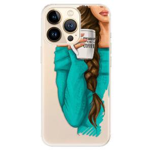 Odolné silikónové puzdro iSaprio - My Coffe and Brunette Girl - iPhone 13 Pro Max