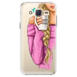 Plastové puzdro iSaprio - My Coffe and Blond Girl - Samsung Galaxy Core Prime