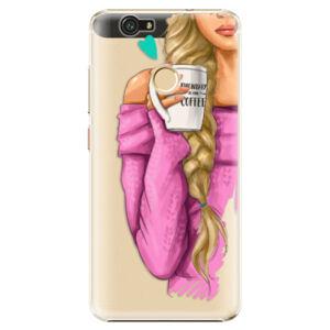 Plastové puzdro iSaprio - My Coffe and Blond Girl - Huawei Nova