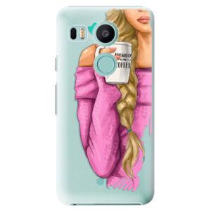 Plastové puzdro iSaprio - My Coffe and Blond Girl - LG Nexus 5X
