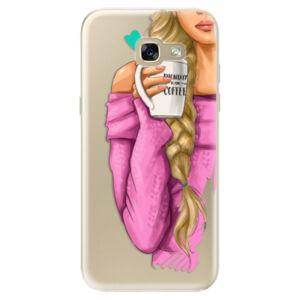 Odolné silikónové puzdro iSaprio - My Coffe and Blond Girl - Samsung Galaxy A5 2017