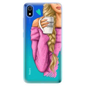 Odolné silikónové puzdro iSaprio - My Coffe and Blond Girl - Xiaomi Redmi 7A
