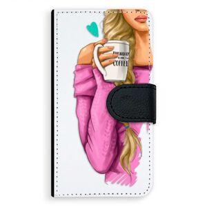 Univerzálne flipové puzdro iSaprio - My Coffe and Blond Girl - Flip L