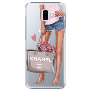 Plastové puzdro iSaprio - Fashion Bag - Samsung Galaxy J6+