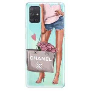 Odolné silikónové puzdro iSaprio - Fashion Bag - Samsung Galaxy A71
