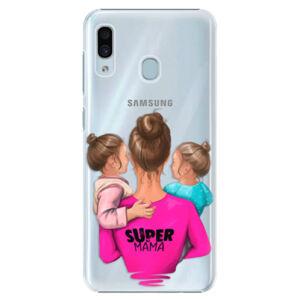 Plastové puzdro iSaprio - Super Mama - Two Girls - Samsung Galaxy A30