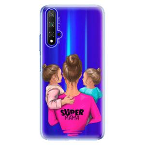 Plastové puzdro iSaprio - Super Mama - Two Girls - Huawei Honor 20