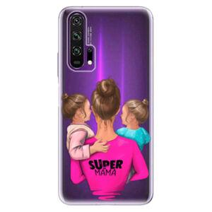 Odolné silikónové puzdro iSaprio - Super Mama - Two Girls - Honor 20 Pro