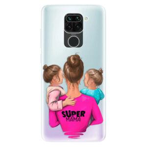 Odolné silikónové puzdro iSaprio - Super Mama - Two Girls - Xiaomi Redmi Note 9