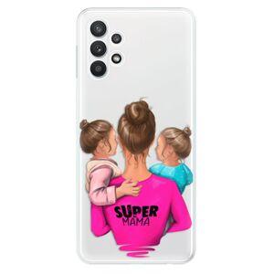 Odolné silikónové puzdro iSaprio - Super Mama - Two Girls - Samsung Galaxy A32