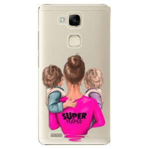 Plastové puzdro iSaprio - Super Mama - Two Boys - Huawei Ascend Mate7