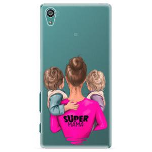 Plastové puzdro iSaprio - Super Mama - Two Boys - Sony Xperia Z5