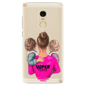 Plastové puzdro iSaprio - Super Mama - Two Boys - Xiaomi Redmi Note 4