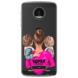 Plastové puzdro iSaprio - Super Mama - Two Boys - Lenovo Moto Z