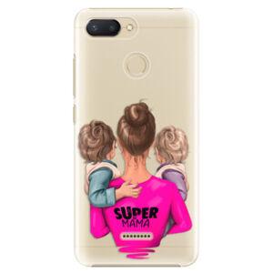 Plastové puzdro iSaprio - Super Mama - Two Boys - Xiaomi Redmi 6