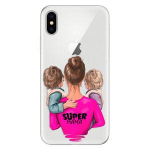 Silikónové puzdro iSaprio - Super Mama - Two Boys - iPhone X