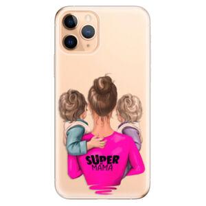 Odolné silikónové puzdro iSaprio - Super Mama - Two Boys - iPhone 11 Pro