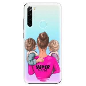 Plastové puzdro iSaprio - Super Mama - Two Boys - Xiaomi Redmi Note 8
