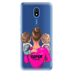 Odolné silikónové puzdro iSaprio - Super Mama - Two Boys - Xiaomi Redmi 8A