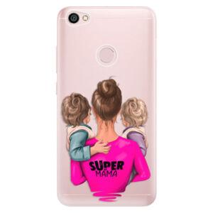 Odolné silikónové puzdro iSaprio - Super Mama - Two Boys - Xiaomi Redmi Note 5A / 5A Prime