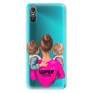 Odolné silikónové puzdro iSaprio - Super Mama - Two Boys - Xiaomi Redmi 9A