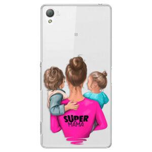 Plastové puzdro iSaprio - Super Mama - Boy and Girl - Sony Xperia Z3