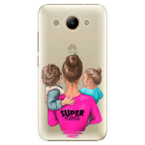 Plastové puzdro iSaprio - Super Mama - Boy and Girl - Huawei Y3 2017