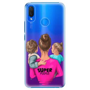 Plastové puzdro iSaprio - Super Mama - Boy and Girl - Huawei Nova 3i