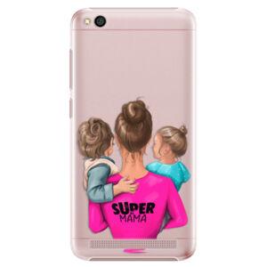 Plastové puzdro iSaprio - Super Mama - Boy and Girl - Xiaomi Redmi 5A