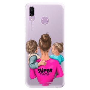 Silikónové puzdro iSaprio - Super Mama - Boy and Girl - Huawei Honor Play