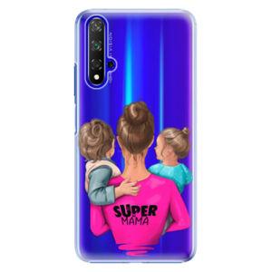 Plastové puzdro iSaprio - Super Mama - Boy and Girl - Huawei Honor 20