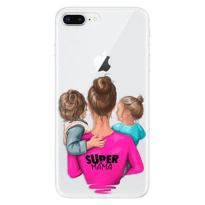 Odolné silikónové puzdro iSaprio - Super Mama - Boy and Girl - iPhone 8 Plus