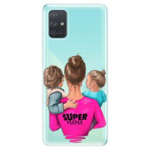 Odolné silikónové puzdro iSaprio - Super Mama - Boy and Girl - Samsung Galaxy A71